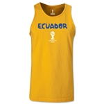 Ecuador 2014 FIFA World Cup Brazil(TM) Men's Core Tank Top (Gold)