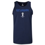 Ecuador 2014 FIFA World Cup Brazil(TM) Men's Core Tank Top (Navy)