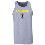 Ecuador 2014 FIFA World Cup Brazil(TM) Men's Core Tank Top (Grey)