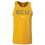 Ecuador 2014 FIFA World Cup Brazil(TM) Men's Elements Tank Top (Gold)