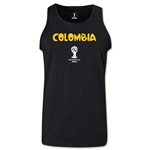 Colombia 2014 FIFA World Cup Brazil(TM) Men's Core Tank Top (Black)