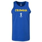 Colombia 2014 FIFA World Cup Brazil(TM) Men's Core Tank Top (Royal)