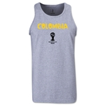 Colombia 2014 FIFA World Cup Brazil(TM) Men's Core Tank Top (Grey)