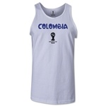 Colombia 2014 FIFA World Cup Brazil(TM) Men's Core Tank Top (White)