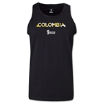 Colombia 2014 FIFA World Cup Brazil(TM) Men's Palm Tank Top (Black)