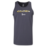 Colombia 2014 FIFA World Cup Brazil(TM) Men's Palm Tank Top (Dark Grey)
