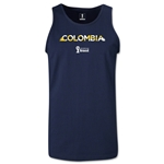 Colombia 2014 FIFA World Cup Brazil(TM) Men's Palm Tank Top (Navy)