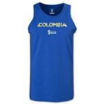 Colombia 2014 FIFA World Cup Brazil(TM) Men's Palm Tank Top (Royal)