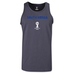 South Korea 2014 FIFA World Cup Brazil(TM) Men's Core Tank Top (Dark Grey)