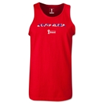 South Korea 2014 FIFA World Cup Brazil(TM) Men's Palm Tank Top (Red)