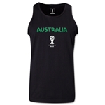 Australia 2014 FIFA World Cup Brazil(TM) Men's Core Tank Top (Black)