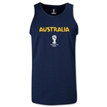 Australia 2014 FIFA World Cup Brazil(TM) Men's Core Tank Top (Navy)