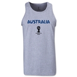 Australia 2014 FIFA World Cup Brazil(TM) Men's Core Tank Top (Grey)