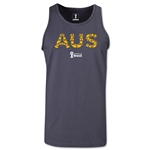 Australia 2014 FIFA World Cup Brazil(TM) Men's Elements Tank Top (Dark Grey)