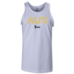 Australia 2014 FIFA World Cup Brazil(TM) Men's Elements Tank Top (White)