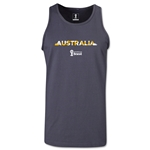Australia 2014 FIFA World Cup Brazil(TM) Men's Palm Tank Top (Dark Grey)