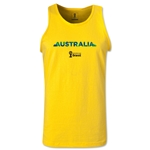 Australia 2014 FIFA World Cup Brazil(TM) Men's Palm Tank Top (Yellow)