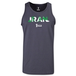 Iran 2014 FIFA World Cup Brazil(TM) Men's Palm Tank Top (Dark Grey)