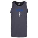 USA 2014 FIFA World Cup Brazil(TM) Men's Core Tank Top (Dark Grey)