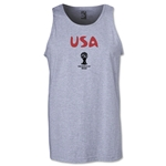USA 2014 FIFA World Cup Brazil(TM) Men's Core Tank Top (Grey)