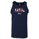 USA 2014 FIFA World Cup Brazil(TM) Men's Palm Tank Top (Navy)