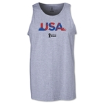 USA 2014 FIFA World Cup Brazil(TM) Men's Palm Tank Top (Grey)