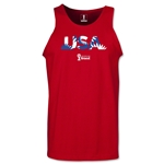 USA 2014 FIFA World Cup Brazil(TM) Men's Palm Tank Top (Red)