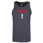 Chile 2014 FIFA World Cup Brazil(TM) Men's Core Tank Top (Dark Grey)