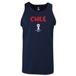 Chile 2014 FIFA World Cup Brazil(TM) Men's Core Tank Top (Navy)