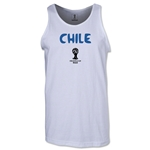 Chile 2014 FIFA World Cup Brazil(TM) Men's Core Tank Top (White)