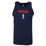 Spain 2014 FIFA World Cup Brazil(TM) Men's Core Tank Top (Navy)