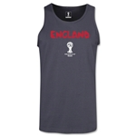 England 2014 FIFA World Cup Brazil(TM) Men's Core Tank Top (Dark Grey)