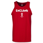 England 2014 FIFA World Cup Brazil(TM) Men's Core Tank Top (Red)