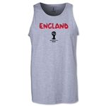 England 2014 FIFA World Cup Brazil(TM) Men's Core Tank Top (Grey)