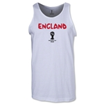 England 2014 FIFA World Cup Brazil(TM) Men's Core Tank Top (White)