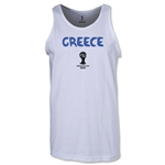 Greece 2014 FIFA World Cup Brazil(TM) Men's Core Tank Top (White)