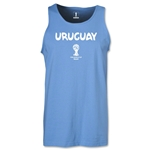 Uruguay 2014 FIFA World Cup Brazil(TM) Men's Core Tank Top (Sky)