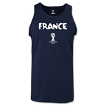 France 2014 FIFA World Cup Brazil(TM) Men's Core Tank Top (Navy)
