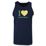 I Heart Australia 2014 FIFA World Cup Brazil(TM) Men's Tank Top (Navy)