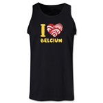 I Heart Belgium 2014 FIFA World Cup Brazil(TM) Men's Tank Top (Black)
