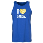 I Heart Bosnia-Herzegovina 2014 FIFA World Cup Brazil(TM) Men's Tank Top (Royal)