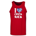 I Heart Costa Rica 2014 FIFA World Cup Brazil(TM) Men's Tank Top (Red)