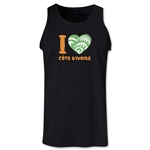 I Heart Cote d'Ivoire 2014 FIFA World Cup Brazil(TM) Men's Tank Top (Black)