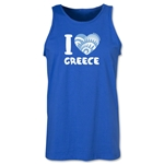 I Heart Greece 2014 FIFA World Cup Brazil(TM) Men's Tank Top (Royal)