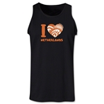 I Heart Netherlands 2014 FIFA World Cup Brazil(TM) Men's Tank Top (Black)