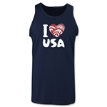 I Heart USA 2014 FIFA World Cup Brazil(TM) Men's Tank Top (Navy)