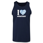 I Heart Uruguay 2014 FIFA World Cup Brazil(TM) Men's Tank Top (Navy)