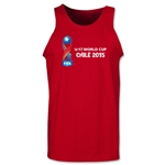 FIFA U-17 World Cup Chile 2015 Landscape Tank Top (Red)