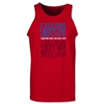 I Believe Tank Top (Red)