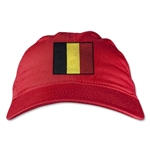 Belgium Unstructured Adjustable Cap (Red)